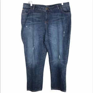 Lane Bryant Distressed High-waisted Jeans size 20